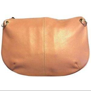 Latico blush colored leather large clutch